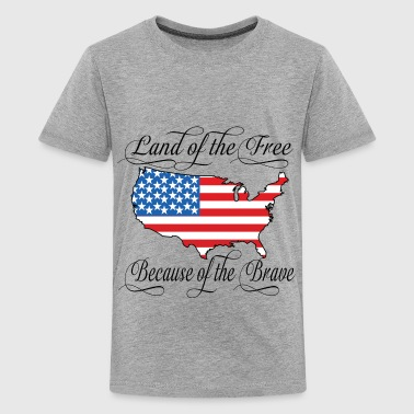 Land of the Free USA Flag - Kids' Premium T-Shirt