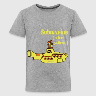 Beatles Yellow Submarine in CSS - Kids' Premium T-Shirt