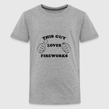 Pyro This Guy Loves Fireworks 4th Of July - Kids' Premium T-Shirt