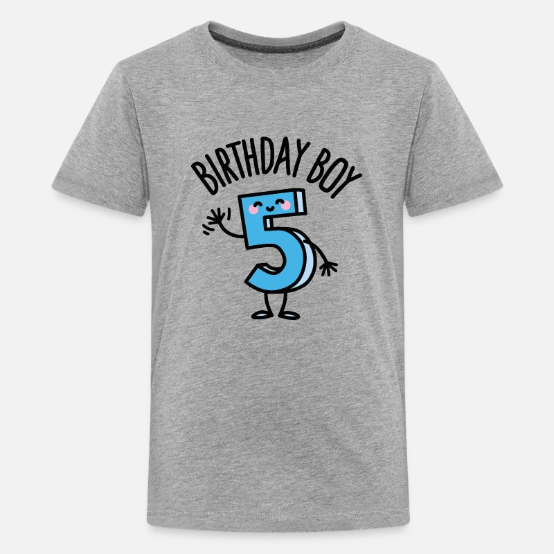 Kids Premium T ShirtBirthday Boy 5 Five Years Old