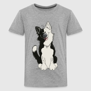 Funny Border Collie - Dog - Gift - Collies - Kids' Premium T-Shirt