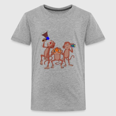 Three Kinds three monkey - Kids' Premium T-Shirt