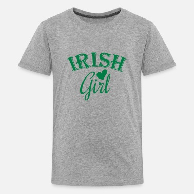 Funny Irish Girl irish girl / irish girl heart - Kids' Premium T-Shirt