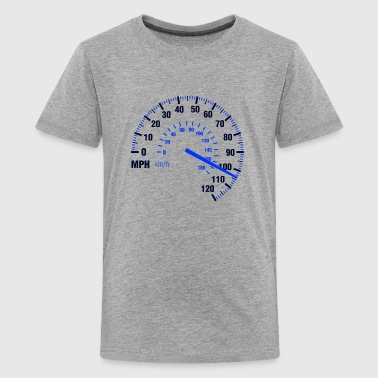 Speed - MPH - Racing - Speedometer - Kids' Premium T-Shirt