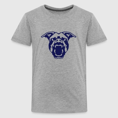 pet pitbull dog ferocious 602 - Kids' Premium T-Shirt