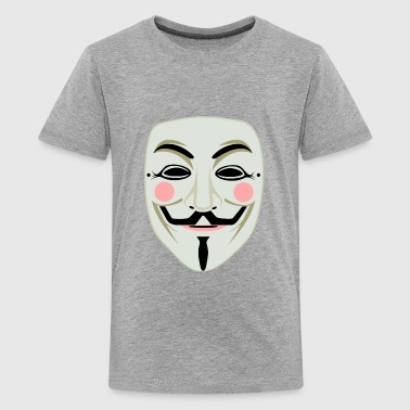 Guy Fawkes Hater Mask - Kids' Premium T-Shirt