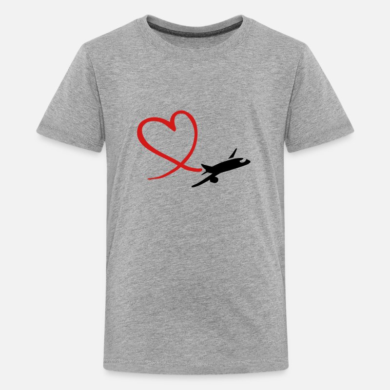 Airplane T-Shirts - Airplane - Kids' Premium T-Shirt heather gray
