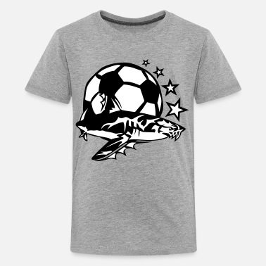 I Hate Soccer soccer shark logo design hated - Kids' Premium T-Shirt