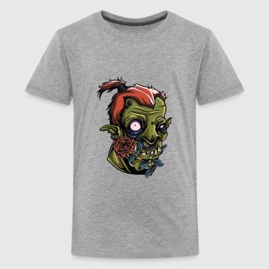 Monster Scary Orc Green Roses Vector painting Art - Kids' Premium T-Shirt