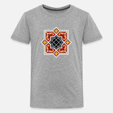 Octagon Barcelona tile red octagonal - Kids' Premium T-Shirt