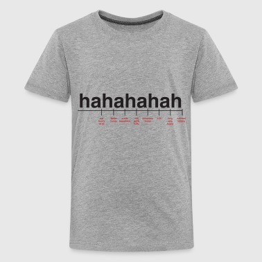 Cool Quote Breaking Down Laughter - Kids' Premium T-Shirt