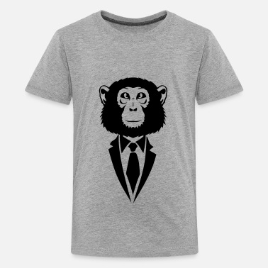 Suit Tie monkey suit and tie tie 2502 - Kids' Premium T-Shirt