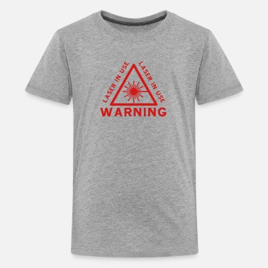Laser Laser Warning - Kids' Premium T-Shirt