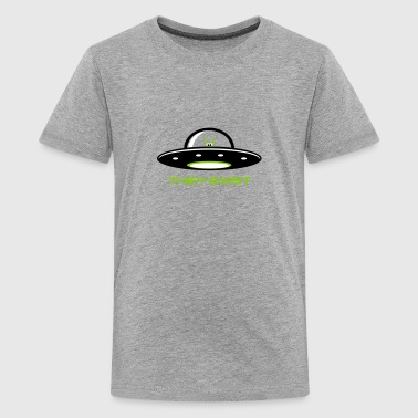 UFO with Alien - They exist - Kids' Premium T-Shirt