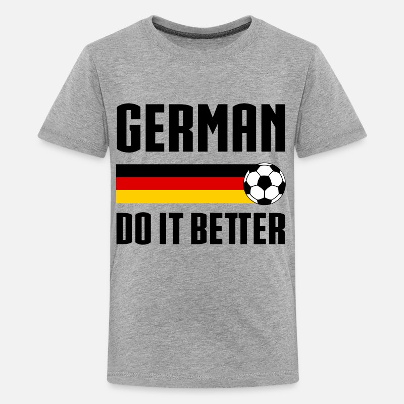 Soccer T-Shirts - German Soccer Better - Kids' Premium T-Shirt heather gray