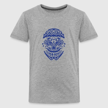 mexican skull dead head 123 - Kids' Premium T-Shirt