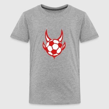 soccer ball devil logo sports - Kids' Premium T-Shirt
