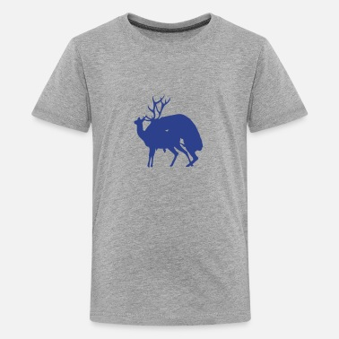 Sticker deer fucking reindeer 1 - Kids' Premium T-Shirt