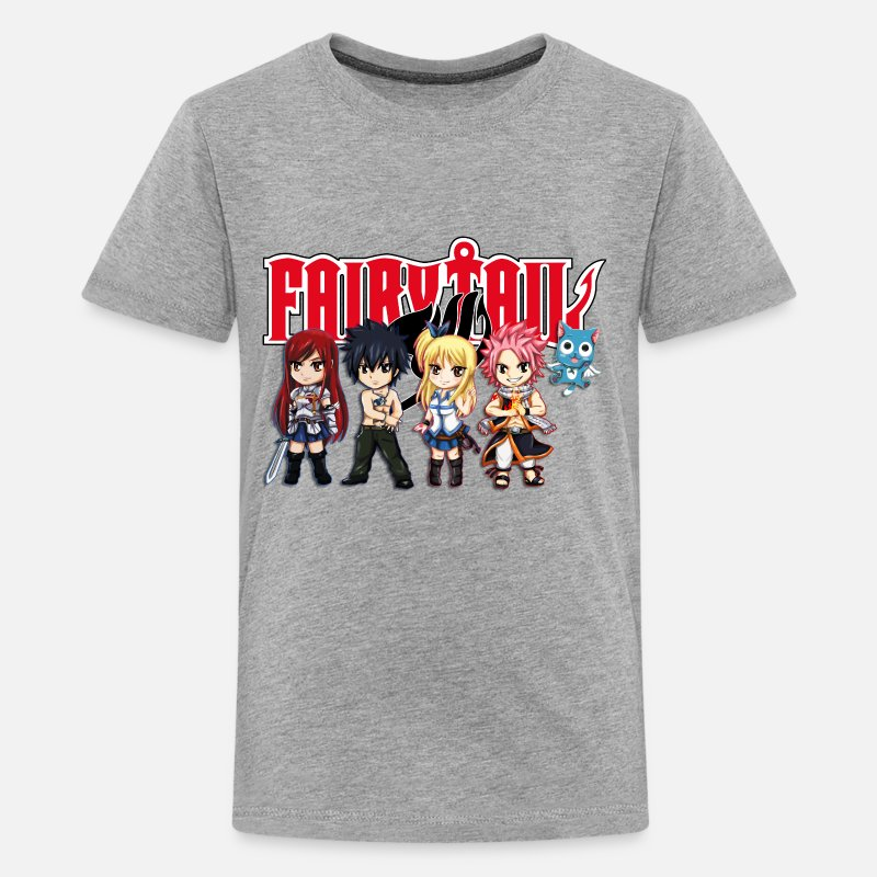 Fairy Tail T-Shirts - The Great Demon Group of Fairy Tail Anime - Kids' Premium T-Shirt heather gray