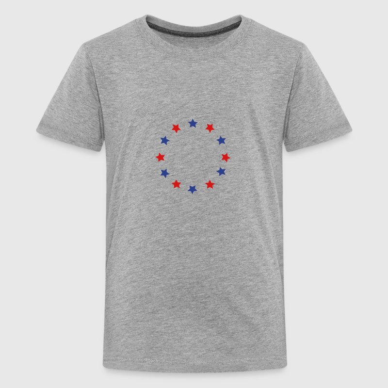 Blue and red stars in a circle, vector - Kids' Premium T-Shirt
