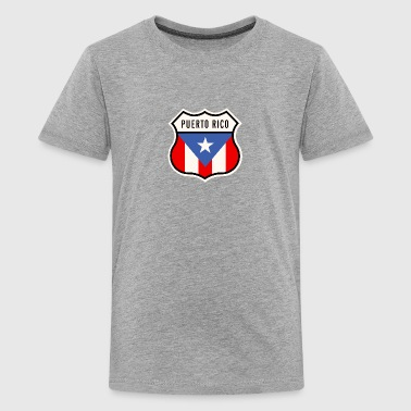 Puerto Rico Shield - Kids' Premium T-Shirt