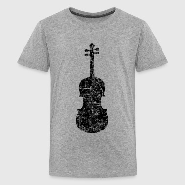 Bluegrass Violin Distressed White - Kids' Premium T-Shirt