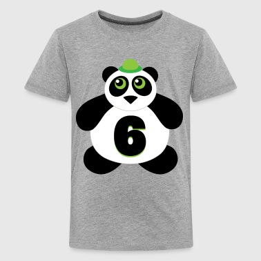 6th Birthday Panda - Kids' Premium T-Shirt