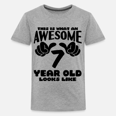 ab8e7eac8468 7th Birthday This is what an Awesome 7 year old looks like - Kids'.  Kids' Premium T-Shirt