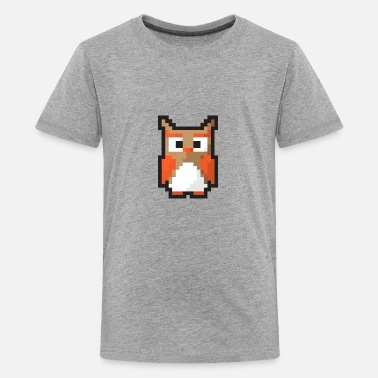 8 Bit Animal Owl 8-bit - Kids' Premium T-Shirt