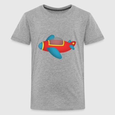 cute and colourful jet plane for kids - Kids' Premium T-Shirt