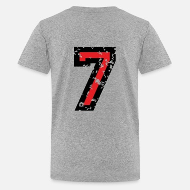 Two Seven The Number Seven - No. 7 (two-color) red - Kids' Premium T-Shirt