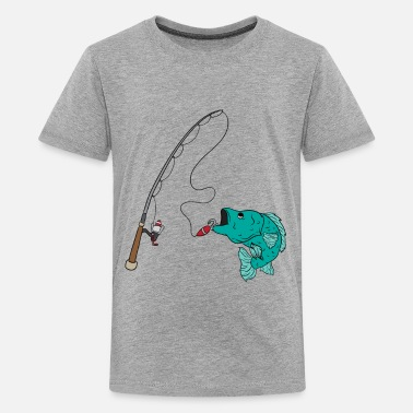Boy Fishing rod Catch Fish Fisherman Gift - Kids' Premium T-Shirt