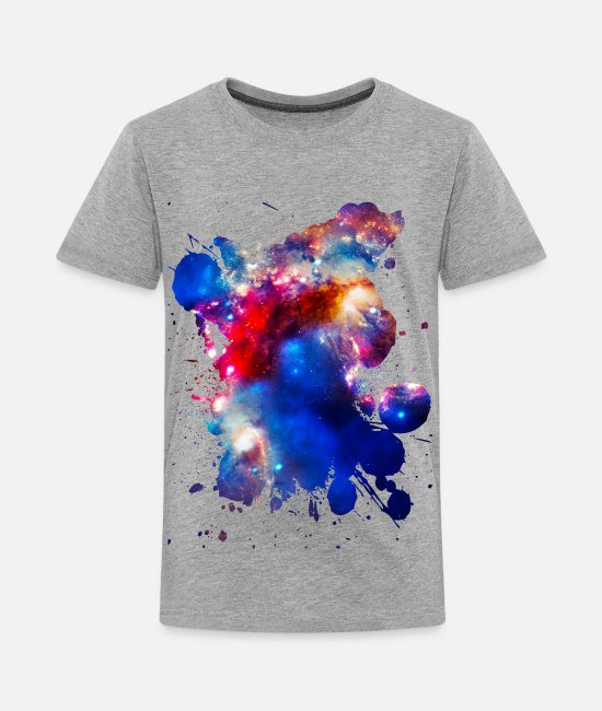 Galaxy T-Shirts - Colorful Cosmos - Kids' Premium T-Shirt heather gray