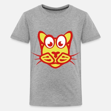 Character funny cat character animal cartoon 2_111 - Kids' Premium T-Shirt