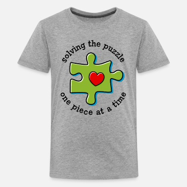 Puzzle Solving The Puzzle - Kids' Premium T-Shirt