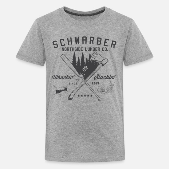 Cubs T-Shirts - Schwarber Lumber Co - Kids' Premium T-Shirt heather gray