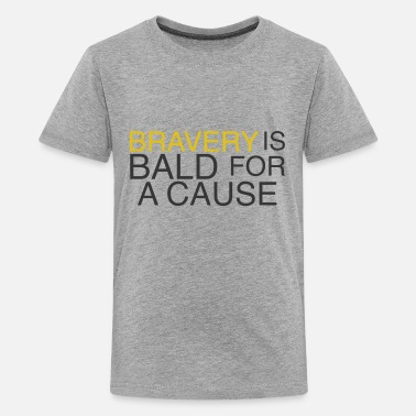 Bravery is Bald - Kids' Premium T-Shirt