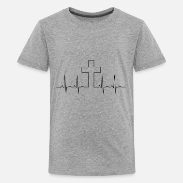 God Cross EKG - Kids' Premium T-Shirt