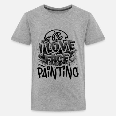 Painting I Love Face Painting Shirt - Kids' Premium T-Shirt