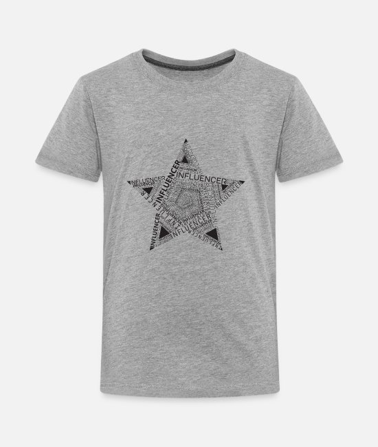 Proud T-Shirts - Stern VIP Influencer Sterne - Kids' Premium T-Shirt heather gray