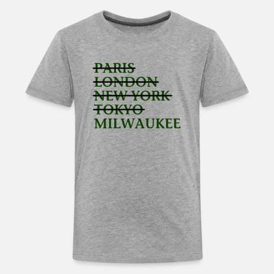 Wisconsin T-Shirts - Milwaukee Wisconsin Funny Classic Apparel T-Shirts - Kids' Premium T-Shirt heather gray