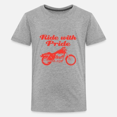 Pride Ride with pride gift tee shirt - Kids' Premium T-Shirt