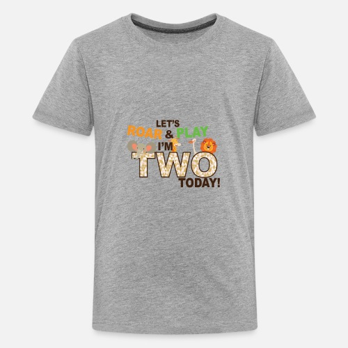 Zoo Jungle Theme Second 2nd Birthday Shirt Kids Premium T