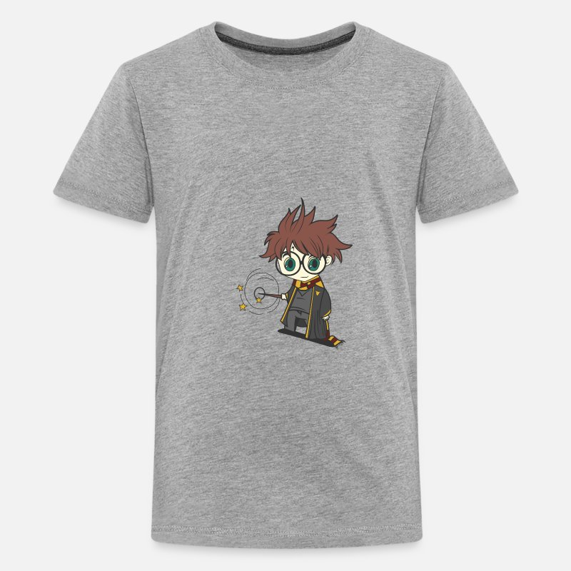 Potter T-Shirts - Harry potter chibi - Kids' Premium T-Shirt heather gray