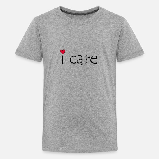 Birthday T-Shirts - i care - Kids' Premium T-Shirt heather gray