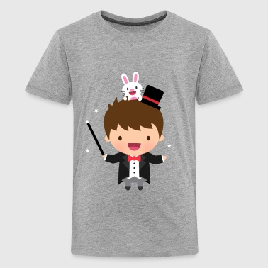 Cute Magician Boy Bunny - Kids' Premium T-Shirt
