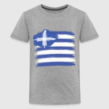 Greece Flag greek - Kids' Premium T-Shirt