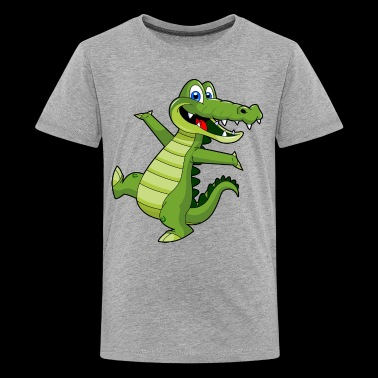 crocodile wallpaper - Kids' Premium T-Shirt