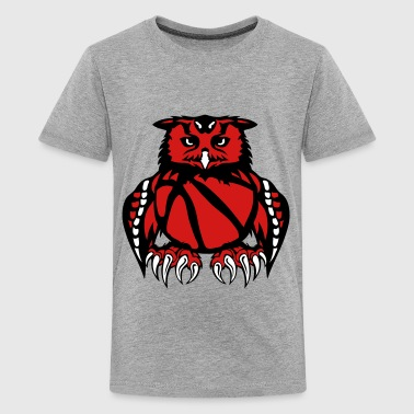 owl basketball club logo ball - Kids' Premium T-Shirt