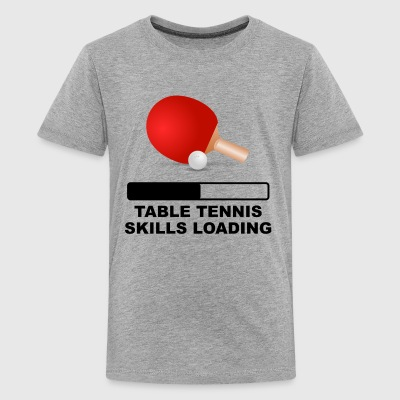 Table Tennis Skills Loading - Kids' Premium T-Shirt